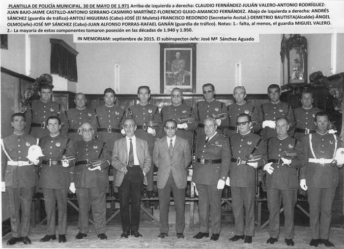 Pozoblanco-plantilla policia municipal 1971