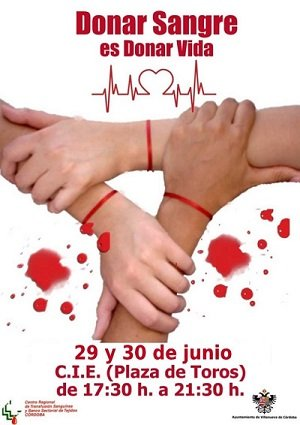 Villanueva de Córdoba - Cartel Donacion Sangre